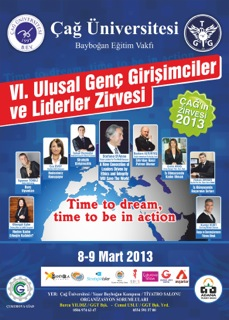 Çağ Universitesi Poster, 9 Mart,2013